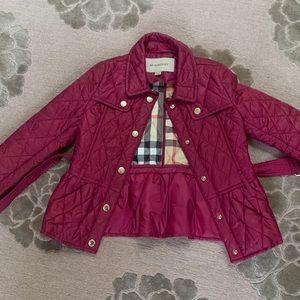 Little girls Burberry coat sz 6